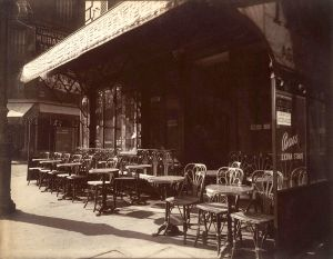 """Café, Avenue de la Grande-Armée, 1924–25"" by Eugène Atget - Metropolitan Museum of Art, online database: entry 190036464. Licensed under Public Domain via Wikimedia Commons - http://commons.wikimedia.org/wiki/File:Caf%C3%A9,_Avenue_de_la_Grande-Arm%C3%A9e,_1924%E2%80%9325.jpg#mediaviewer/File:Caf%C3%A9,_Avenue_de_la_Grande-Arm%C3%A9e,_1924%E2%80%9325.jpg"